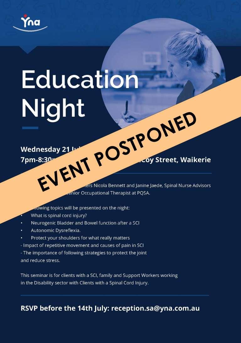 Education Night - POSTPONED
