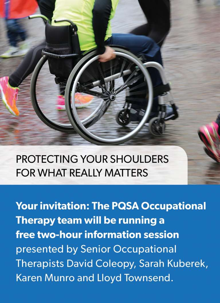 PQSA Education Session - Protecting your shoulders for what really matters